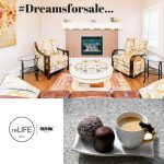 #Dreamsforsale…Coffee with friends by the fireplace